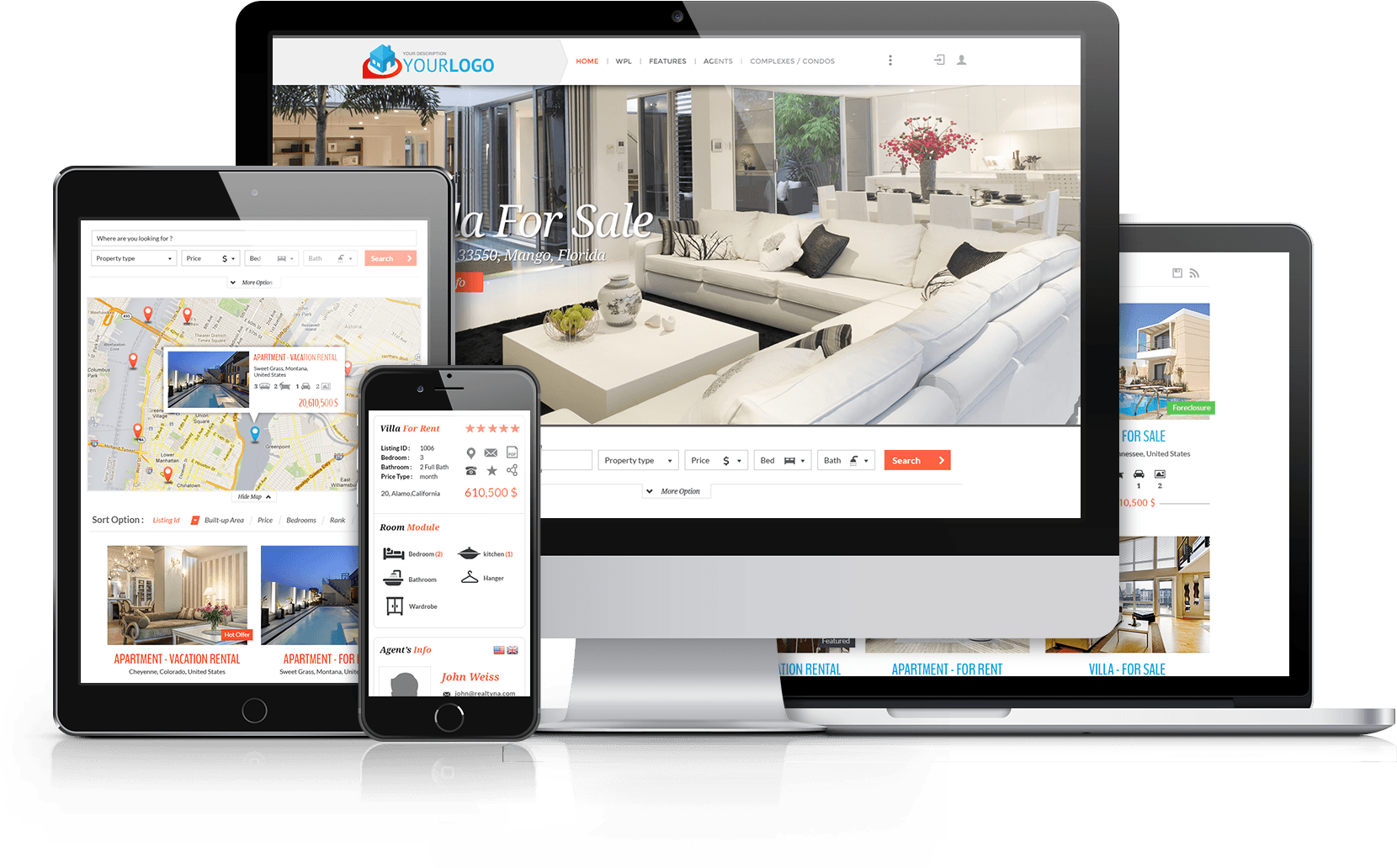 websites for real estate professionals, real estate agent, real estate investor, real estate developer, real estate website