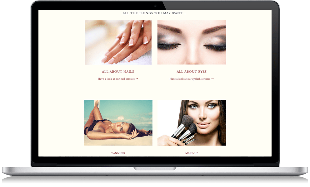 beauty salon website design, web design, macomb county, webpossible